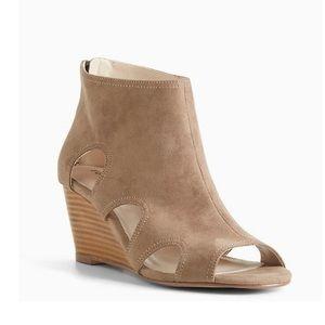 Torrid cutout peep toe wedge shoes